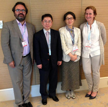 From left to right: Lluís Montoliu, Kyoung Chan Park, Chikako Nishigori and Caroline Le Poole